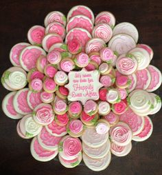 Rehearsal Dinner Decorated Cookies by Nanny and Weebs at http://www.facebook.com/NannyAndWeebs via #TheCookieCutterCompany