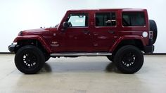 2012 Deep Cherry Red Crystal Pearl Jeep Wrangler Unlimited http://www.iseecars.com/used-cars/used-jeep-wrangler-for-sale