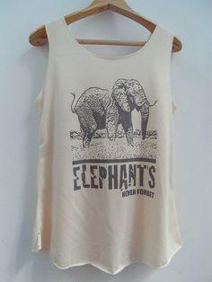 ELEPHANT Shirts Tank top Pop Punk Rock Tank Top by vintageartshirt, $15.00