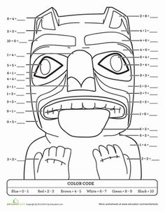 This totem bear is a symbol of the Pacific Northwest, and this color-by-sum activity mixes math with social studies learning. . . .