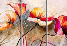 3 Pieces Hand painted oil painting Poppies lashed By The Wind-Modem Canvas Wall Art set Oil Painting On Canvas, Painting Prints, Wall Art Sets, Your Paintings, Wall Paintings, Canvas Wall Art, Poppies, Hand Painted, Pinterest Pinturas