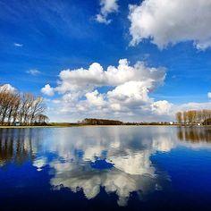 #ouderkerkerplas  #ouderkerkaandeamstel  #sky #clouds #reflection