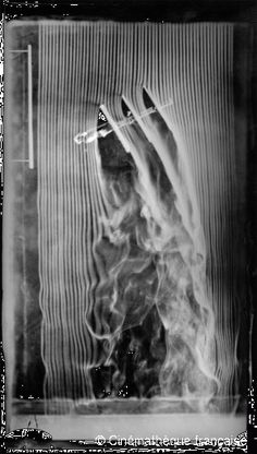 Etienne-Jules Marey,Triplanes, 30-degree angle, fourth and last version of the smoke machine equipped with 57 channels,© Cinémathèque française