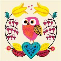 ansichtkaart little owlet small   Wenskaarten Clare Madicott   Folkleure