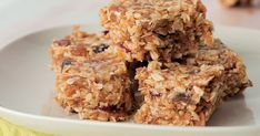 These fruit and honey muesli bars are sweet and chewy and great for an after-school snack. Make it on the weekend so the kids' snack are sorted for the upcoming week. Butter Rice, Peanut Butter, Muesli Bars, Online Cookbook, After School Snacks, Honey, Kid Lunches, Fruit, Sweet