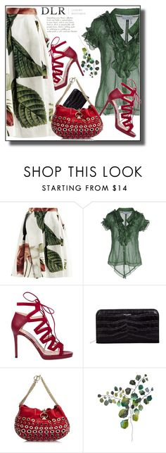 """DLR"" by jelena-880 ❤ liked on Polyvore featuring Vivienne Westwood Anglomania, Elisa Cavaletti, Jimmy Choo, Yves Saint Laurent and Sonia Rykiel"