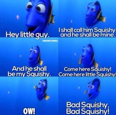 finding nemo little girl quotes What's the little girl's name in finding nemo the one who kills the fishes.