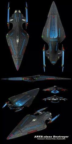 "Starfleet ships: Photo - ""Star Trek"" Starfleet starship pictures and gifs. Most of the fan-designs on here are not my ow - Star Trek Starships, Star Trek Enterprise, Star Trek Voyager, Spaceship Art, Spaceship Design, Vaisseau Star Trek, Nave Star Wars, Starfleet Ships, Alien Ship"