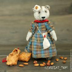 Купить Мишка Стеша - серый, тедди, игрушка ручной работы, игрушка в подарок, энгельке, engelke