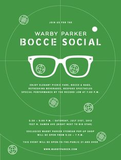 "warbyparker: "" Join us in Chicago on Saturday for an afternoon of bocce, beer, live music, and an exclusive Warby Parker pop-up shop!"