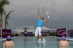 Water Tenis - cool photoshoped picture of Rafa playing game-----LOOK MOM, RAFA WORKS ON WATER