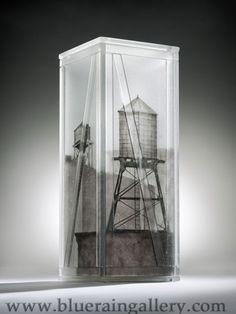 """Jeremy Lepisto, """"Some Reserves,"""" kilnformed and assembled glass, 20""""h x 8""""w x 8""""d, available at Blue Rain Gallery. www.blueraingallery.com"""