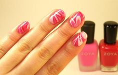 Cosmo readers shared with us their nail art! Marble mani