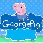 Rótulo Copinho de Brigadeiro Geoge Pig e Dinossauro: