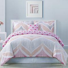 Fine Line Reversible Comforter Set