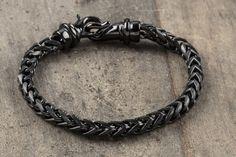 Japanesse chain armor bracelet, matte black