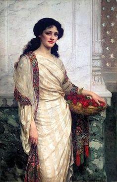 Wontner, William Clarke (b,1857)- Woman w Flower Basket