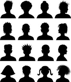 16 Avatar Silhouettes - Free Vector Site | Download Free Vector Art, Graphics