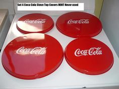 Coca Cola Coke Soda Fountain Diner Kitchen Stove Covers older MINT Free PO RARE | eBay - Ohhhh god I've been looking for these everywhere!