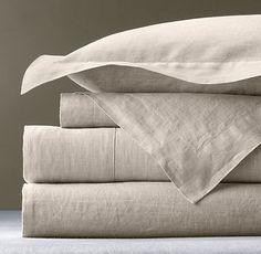 My favorite Sheets: Vintage-Washed Belgian Linen Sheeting...so wonderful