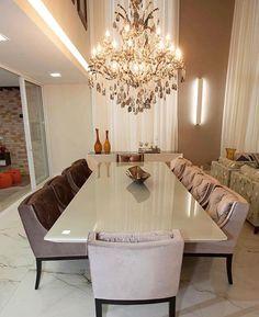 Aquela sala impactante. Amei! By Projecta Arquitetura Via Decor Diário - |Me acompanhe também no @pontodecor e @maisdecor_ - www.homeidea.com.br Face: /homeidea Pinterest: Home Idea #homeidea #arquitetura #ambiente #archdecor #archdesign #projeto #homestyle #home #homedecor #pontodecor #homedesign #photooftheday #interiordesign #interiores #picoftheday #decoration #revestimento #decoracao #architecture #archdaily #inspiration #project #regram #home #casa #grupodecordigital #saladejantar…