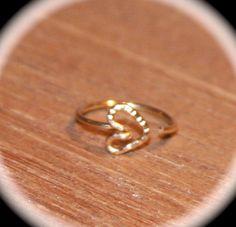 Small Nose Ring Heart Nose Ring Nose Hoop by BirchBarkDesign Tragus, Cartilage Hoop, Cartilage Earrings, Hoop Earrings, Double Nose Piercing, Nose Stud, Heart Nose Rings, Heart Ring, Body Piercings