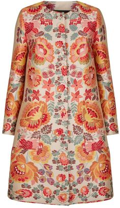 Etro Rosemont Jacquard Floral Coat Batik Fashion, 60 Fashion, Floral Fashion, Fashion Dresses, Simple Shirts, African Print Fashion, Jacket Dress, Dress To Impress, Mantel