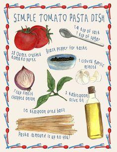 Simple tomato pasta dish