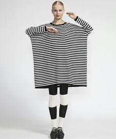 marimekko WEAR(マリメッコウェア)のTusina Tasaraita Knits / MOOLI(ワンピース・ドレス)|ホワイト系その他