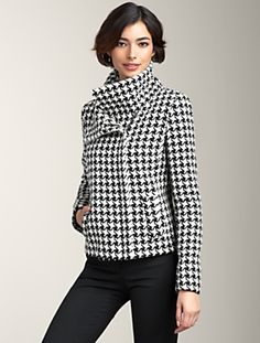 Love this. Nice and structured. Depends on if the white is white enough. They are calling it ivory so it may not be. Talbots for $189.00