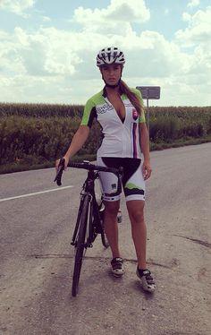 Lucia Javorcekova a compatriot of Peter Sagan http://selfieonbike.com/lucia-javorcekova-a-compatriot-of-peter-sagan/