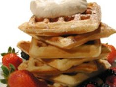 Belgian Waffles recipe from Sweet Dreams via Food Network Overnight Belgian Waffle Recipe, Homemade Pancake Syrup, Food Network Recipes, Cooking Recipes, Belgian Waffles, Banana Nut, Waffle Iron, Waffle Recipes, Cake Flour