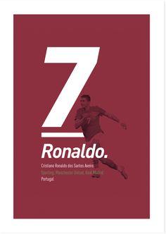Football Players Revisited by Elliott Lee, via Behance Football Design, Football Art, Football Players, Cristiano Jr, Cristiano Ronaldo Junior, Lionel Messi, Manchester United, Premier League, Fifa