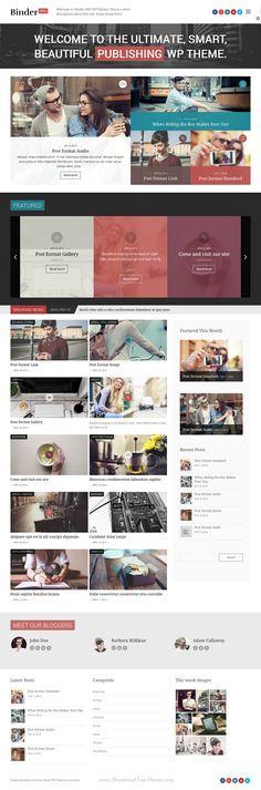 Binder PRO Publishing Multipurpose WP Theme #webdesign #News #Blog #Magazine