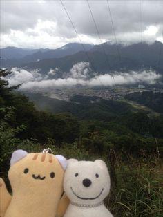 クマ散歩:クマ、三ツ峠山を下りる The Bear went down Mt. Mitsutoge!♪☆(^O^)/  #クマ#Bear#下りる