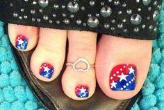 of july nail art design maceys pedicures ! in 2019 ногти Toenail Art Designs, Pedicure Designs, Pedicure Nail Art, Toe Nail Art, Holiday Nail Designs, Creative Nail Designs, Holiday Nails, Patriotic Nails, 4th Of July Nails