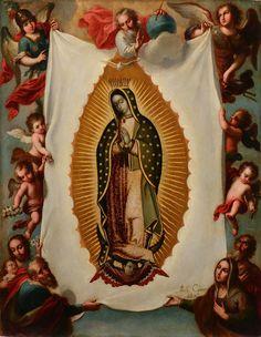 Miguel Cabrera (Antequera, 1695 – Mexico, 1768), Notre Dame de Guadalupe. Vers 1755. Huile sur cuivre, 47,5 x 36,5 cm. Signé en bas à droite : Michl Cabrera / pinxit Mo. Galerie Terrades, Stand 14. Photo Galerie Terrades.