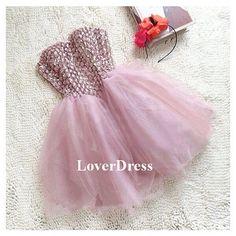Ball Gowns, Mini Ball Gowns, Sweet 16 Dress, Short Homecoming Dress, Princess Dress, Cute Cocktail Dress, Sparkly Graduation Dress