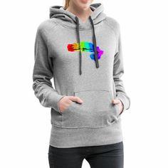 Camaleonte - Felpa con cappuccio premium da donna Athletic, Hoodies, Sweaters, Jackets, Products, Fashion, Posh Clothing, Heather Grey, Cotton