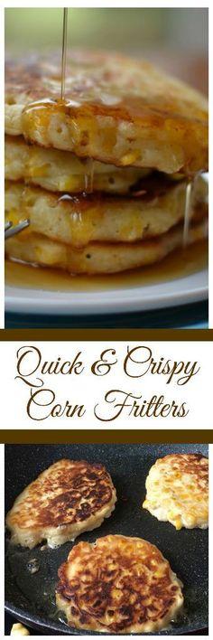 Quick Crispy Corn Fritters | Corn Fritters | Crispy Corn Fritters | Fritters | Corn Recipe | Fritter Recipe | Skillet Fritters #smalltownwoman #cornfritters #fritters via @bethpierce0151