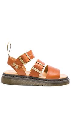 Shop for Dr. Martens Gryphon Strap Sandal in Oak at REVOLVE. Free day shipping and returns, 30 day price match guarantee. Strappy Shoes, Studded Sandals, Monk Strap Shoes, T Strap Sandals, Sock Shoes, Cute Shoes, Sandals Outfit, Shoes Sandals, Dr Martens Sandals