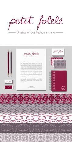 Petit Folelé, corporate identity. Handmade calligraphy logo.