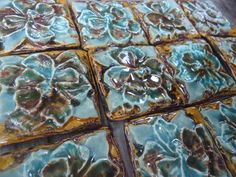 12 Mini Tiles or Mosaic Pieces. $48.00, via Etsy.
