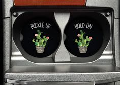Cactus Car Coasters - Cup Holder Coaster - Car Coaster Set - Cactus Coasters - Car Coasters - Coasters for Car - College Student Gift by 3CStylesandPrints on Etsy