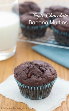 ... Bananas Muffins, Amazing Muffins, Breads Muffins, Triple Chocolates