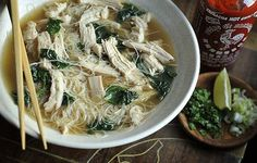7 delicious ways to eat like you are in SE asia: Turkey Pho, Sho Mai, Wok fried squid and greens, Shrimp Pad Thai and more