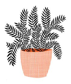 Pot Plant by blackoutwell on Etsy