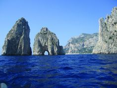 Rich in history, glamour and beauty, Capri is also the perfect size for a couple of days' exploring. Capri is perfectly sized for a weekend's exploring! Capri Tour, Capri Italy, Sorrento, Tours, Explore, Mountains, History, Water, Glamour