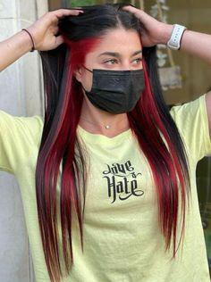 Two Color Hair, Pretty Hair Color, Hair Dye Colors, Dip Dye Hair, Dyed Hair, Undercut Girl, Hair Inspo, Hair Inspiration, Best Hair Dye