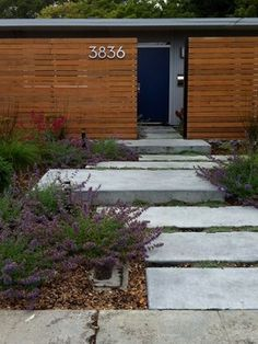Great Mid Century Walkway Pavers And Gravel For The Home